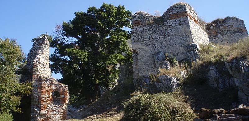 A vár mai látképének egy részlete
