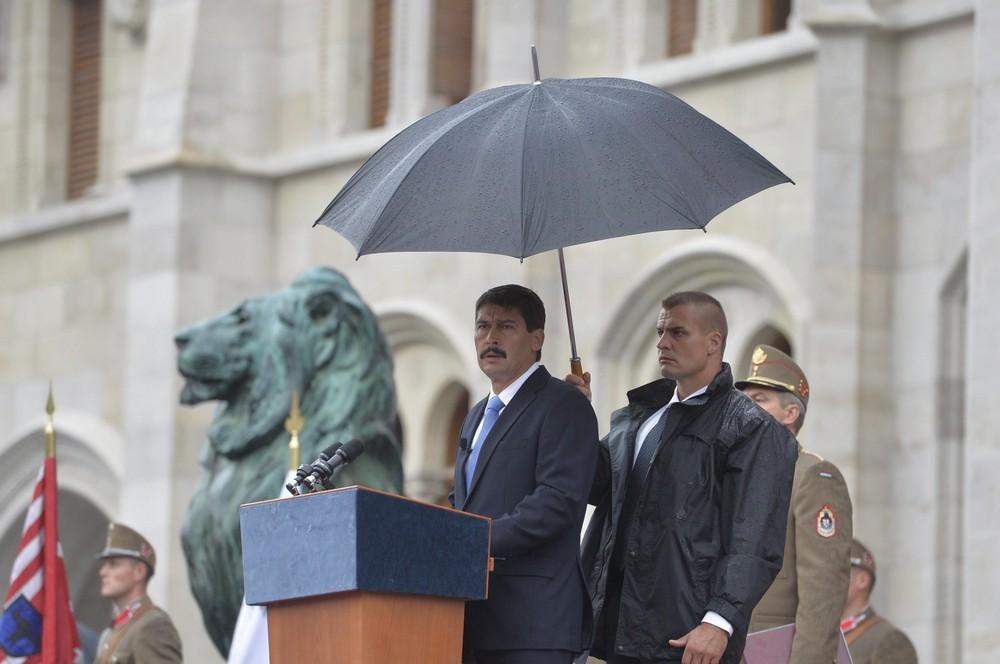 Áder János köztársasági elnök beszédet mond