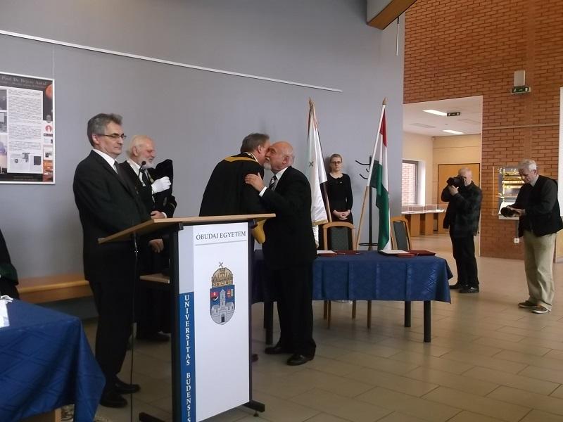 Prof. Dr. Rudas Imre volt rektor kitüntetése