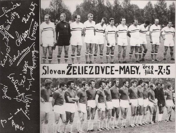 Az Aranycsapat Zselízen 1969-ben