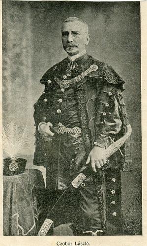Czobor László portréja az 1907-as Honti Naptárból