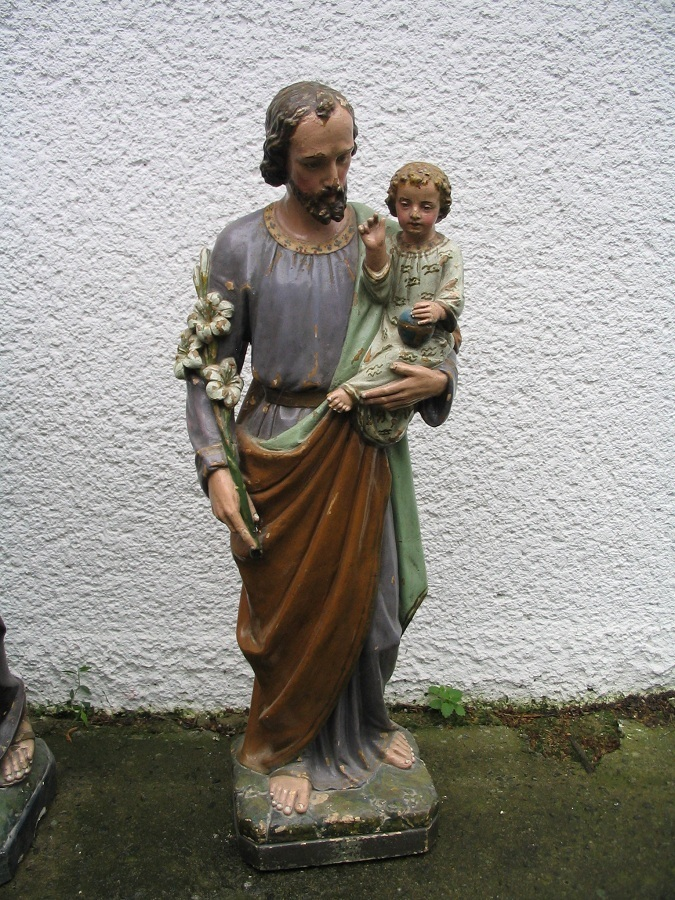 Szent József a Kisjézussal. Ipolykeszi Csáky Károly felv.