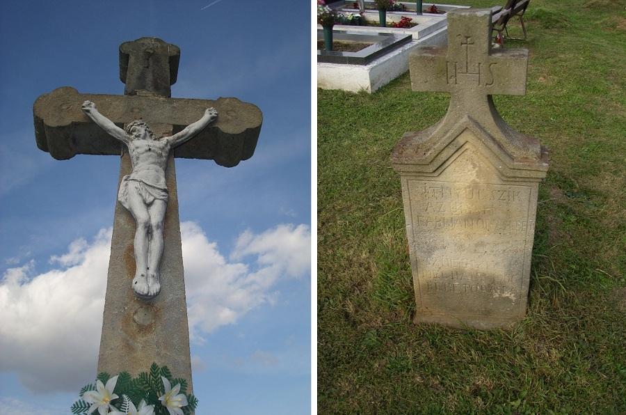 A központi temetőkereszt. Csáky K. felv