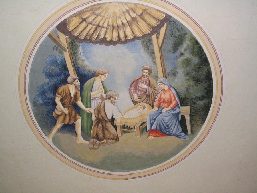 Felsőtúr Szt. József egy templomfreskón. Csáky K. felv. 2007