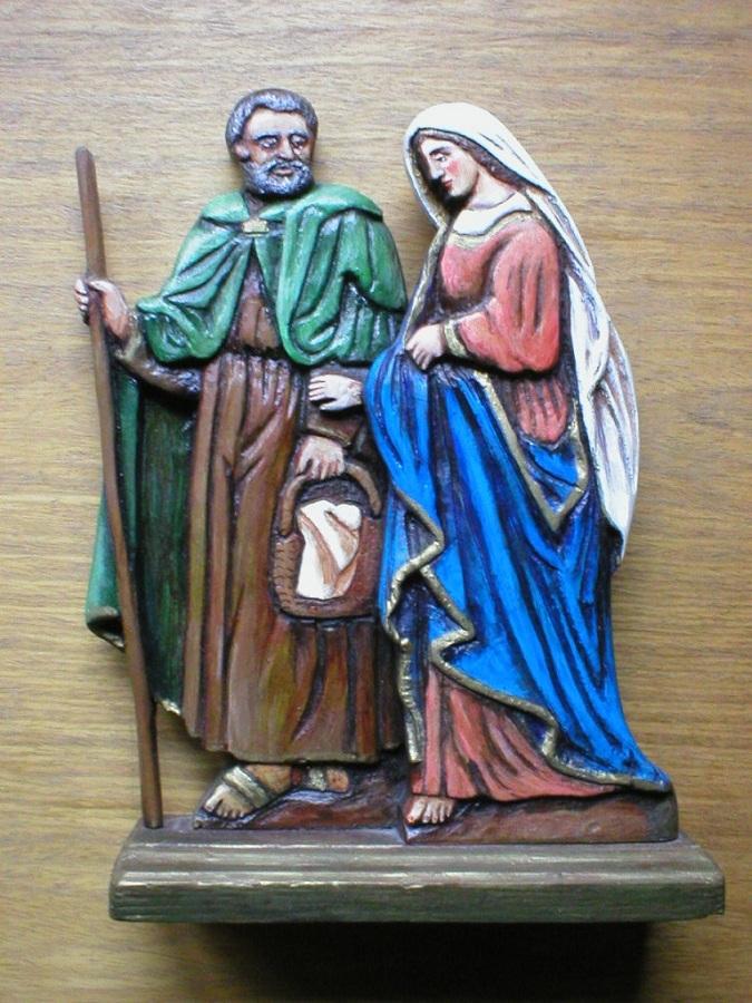Szent József és Mária egy berneceberáti szobron