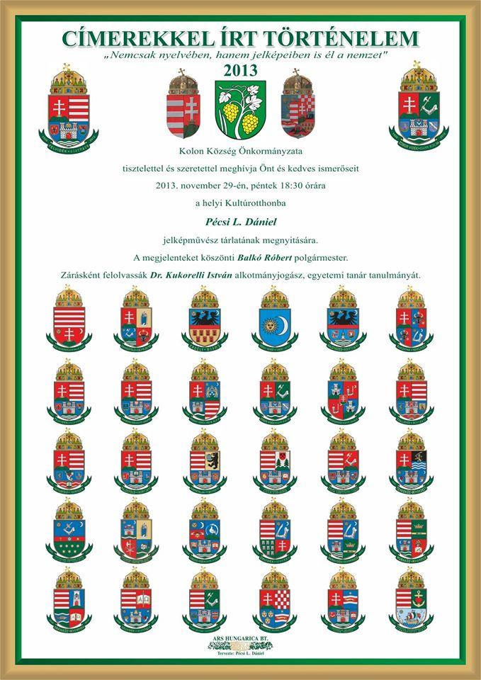 Az elkészült egyes címerek