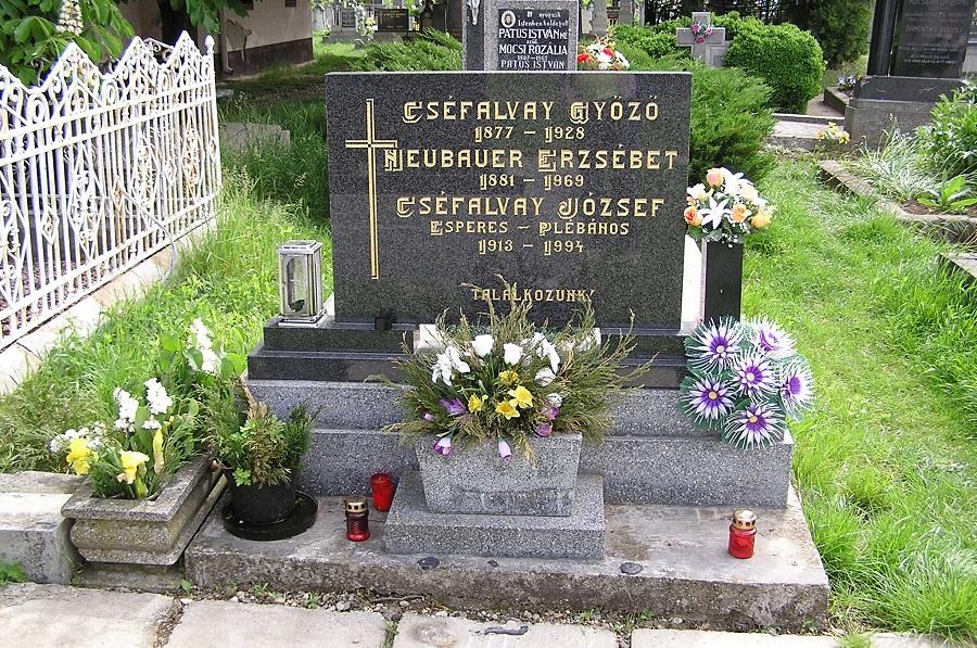Cséfalvy József esperes sírja Csáky K felv