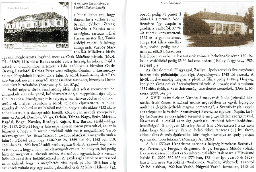 A két Szentiványi-kastély a szerző kiadványában