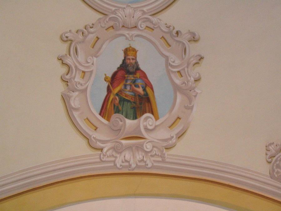 Csáky Károly felvétele Szent István király varbói templomfreskójáról