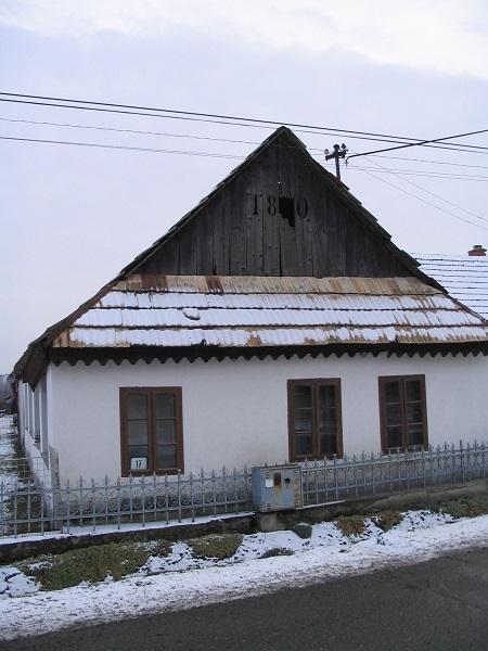 Egy régi gazdaház a XIX. századból Csáky Károly felvételén