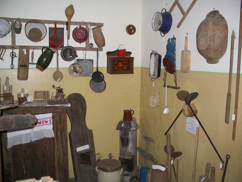 Konyhaeszközök a falumúzeum gyűjteményében