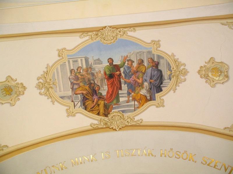 Szent Pál a csábi templom freskóján Csáky Károly felvételén