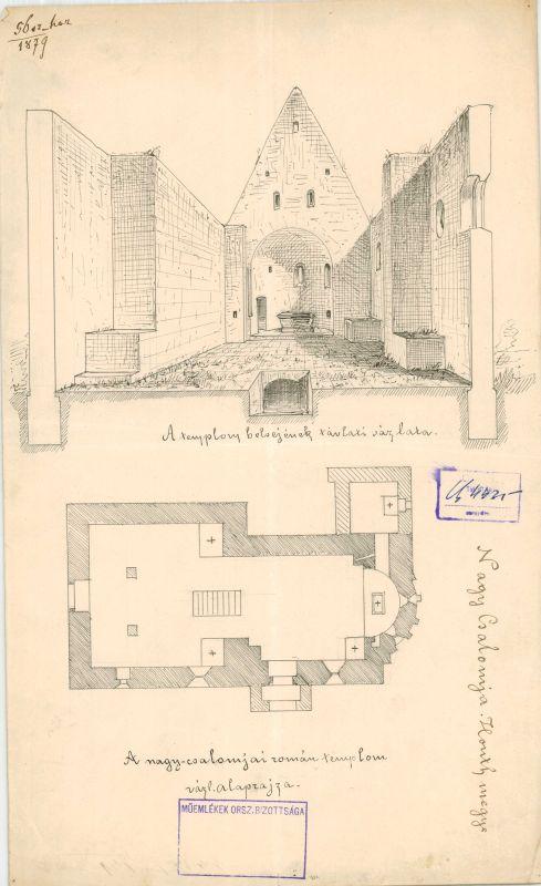 A csalomjai öregtemplom belseje 1879