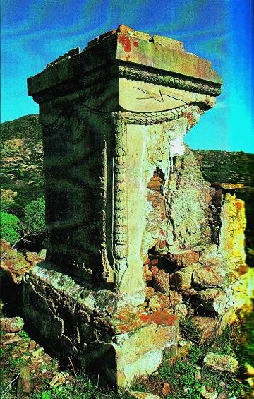 A halálmars romos emlékműve
