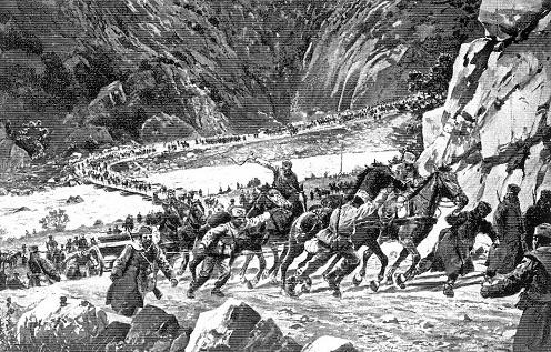A szerb hadsereg a havasokban