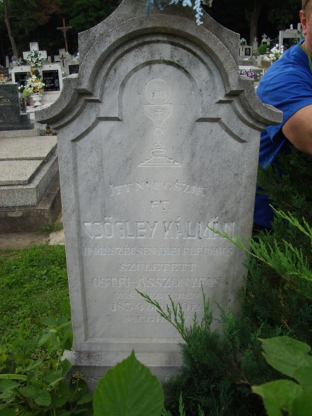 Ft. Csögley Kálmán síremléke Csáky Károly felvételén