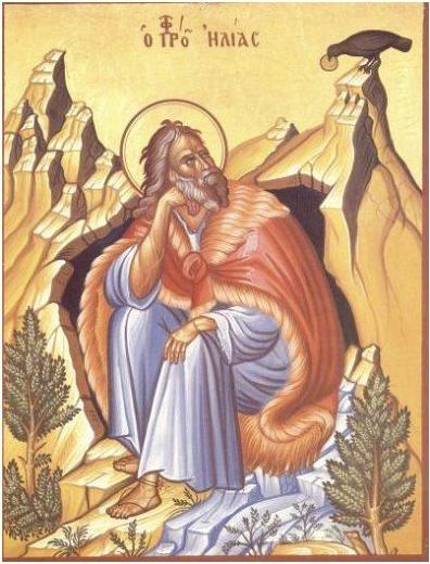 Illés próféta a barlangjánál. Világháló
