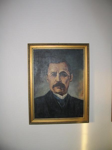 Mikszáth portréja az emlékházban Csáky Károly felvételén