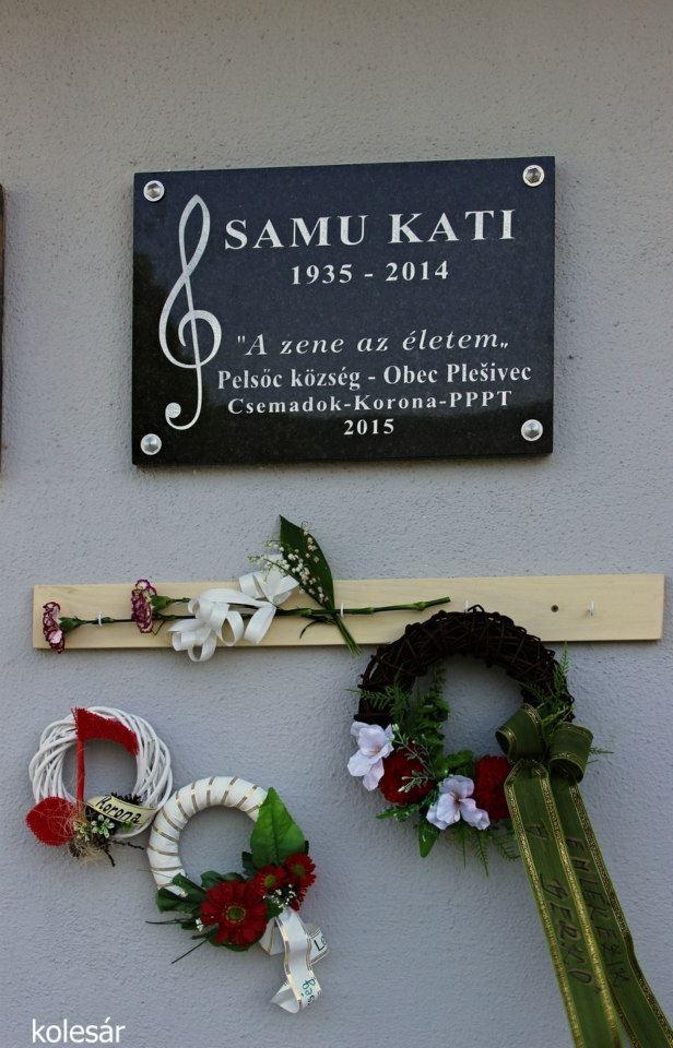 Samu Katalin emléktáblája