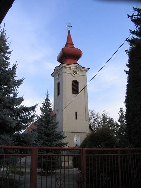 Szklabonya katolikus temploma Csáky Károly felvételén