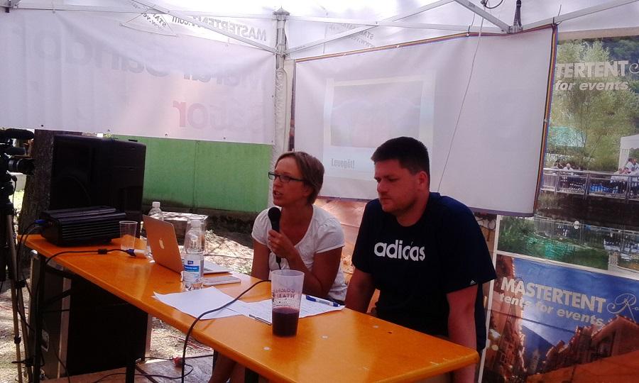 Tömöl Gabriella és Sósik Szilárd akik a komolyzenét és kóruséneklést csempészik be a táborba
