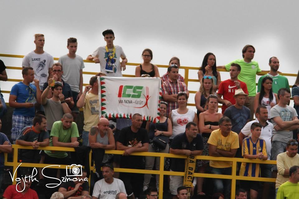 A Via Nova csapata is helyszínen szurkolt Felvidék kedvenceinek