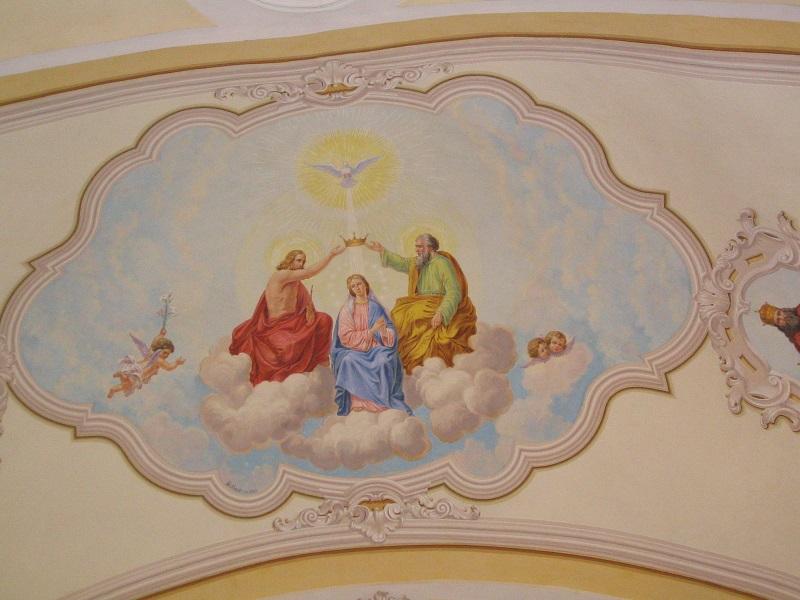 Az ipolyvarbói  templom freskóján  Csáky Károly felvételén