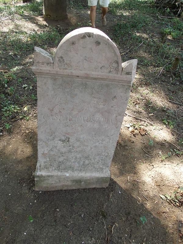 Gáspár Fausztina sírjele Csáky Károly felvételén