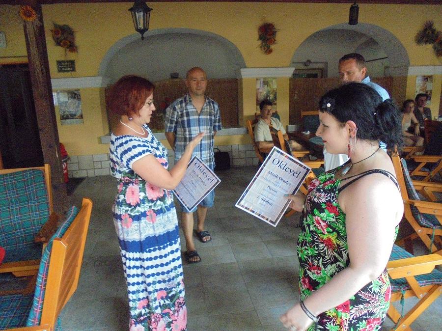 Mázik Orsolya a próza kategória 2. helyezettje