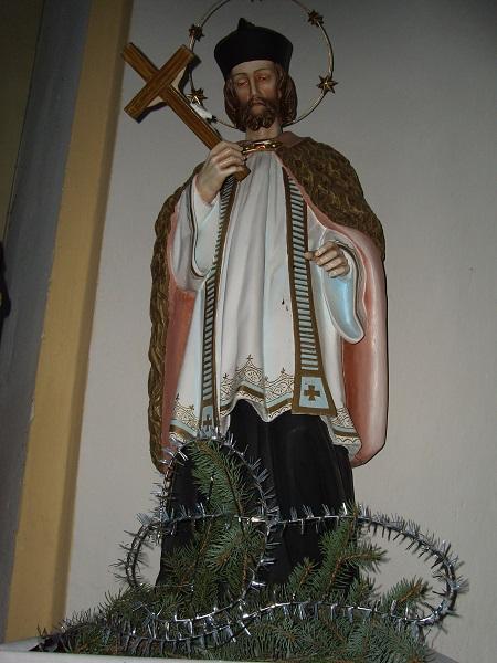 Nepomuki Szt. János templomi  szobra Csáky Károly  felvételén
