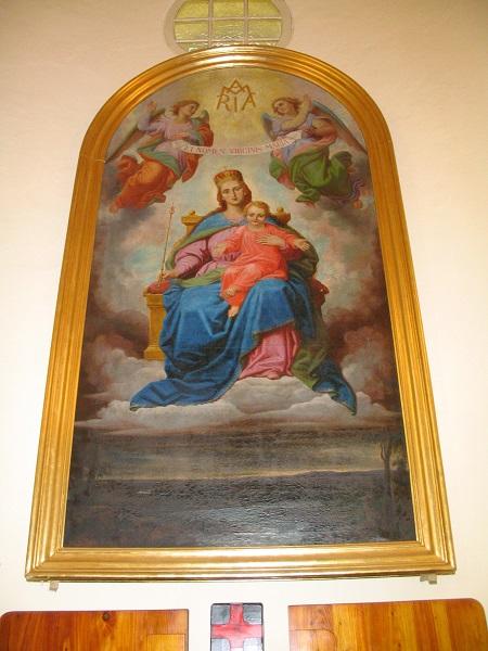 Szűz Mária oltárkép a Csábi templomban  Csáky Károly felvételén