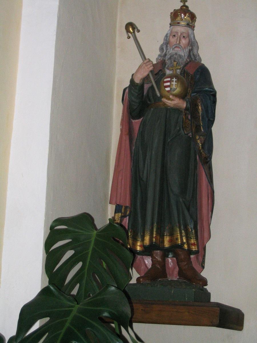 Szent István szobra Ipolyságon Csáky Károly felvételén