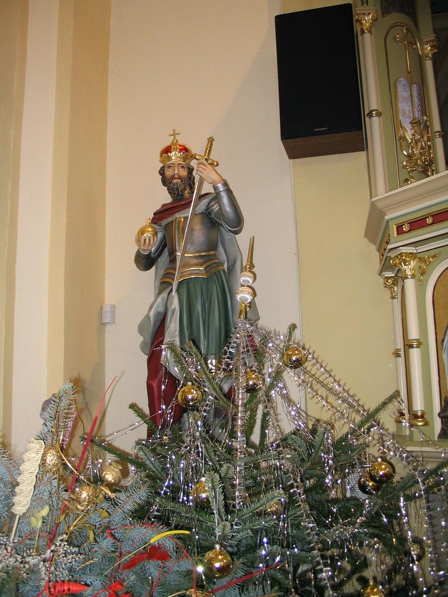 Szent István szobra Szeté  Csáky Kíroly felvételén