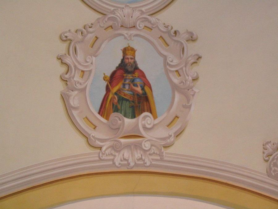 Szt István freskója Ipolyvarbón - Csáky Károly felvételén