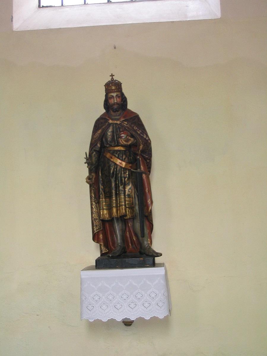 Szt István szobra az ipolyszaalkai templomban Csáky Károly felvétele