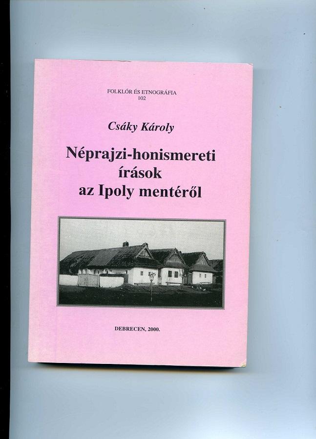 A szerző egyik kötetének címlapja pereszlényi házakkal