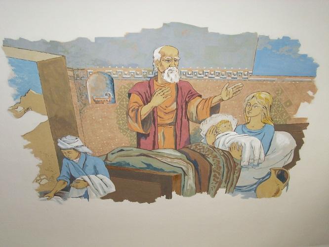Freskó dacsókeszi templomban  Csáky Károly felvételén