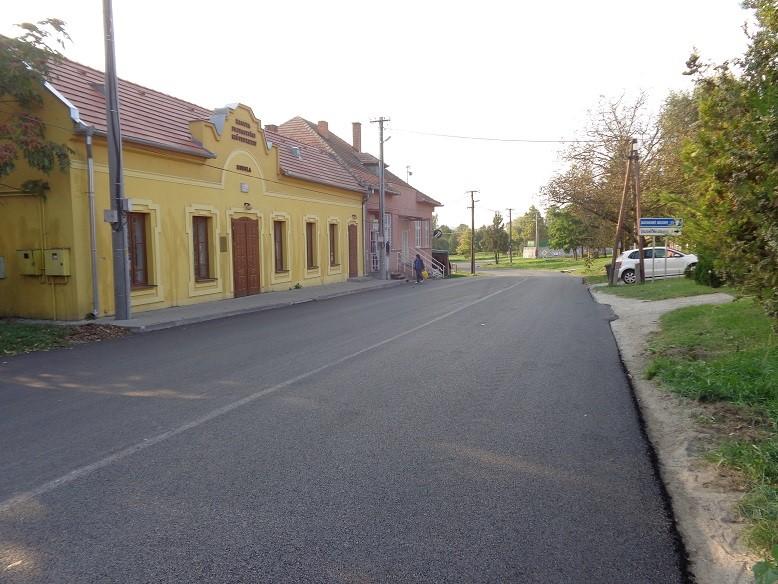 Muzsla község felújított útjai 1