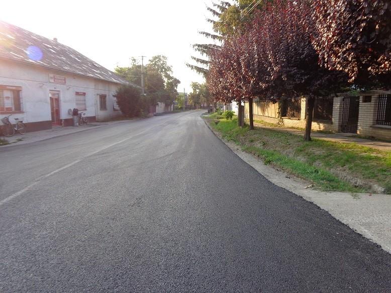 Muzsla község felújított útjai 2