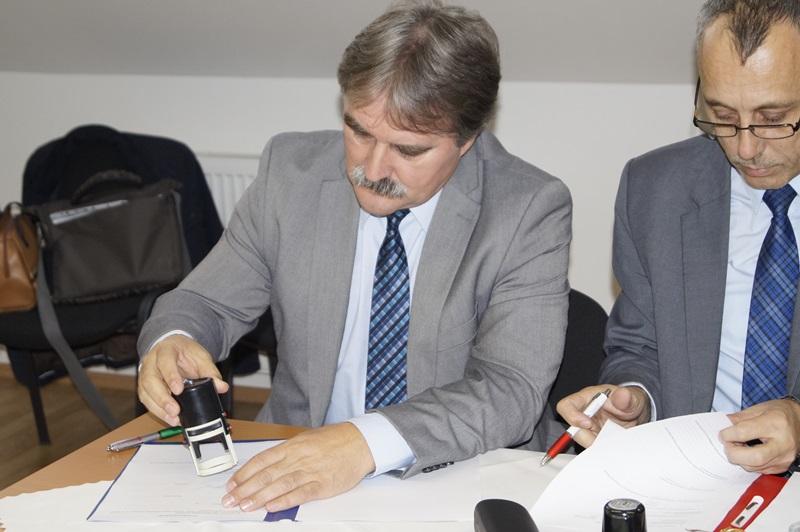 Bárdos Gyula a CSEMADOK országos elnöke és Jókai Tibor a SZMPSZ elnöke