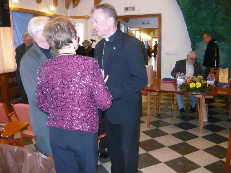 Beér Miklós Váci püspök is megtisztelte az ünnepeltet