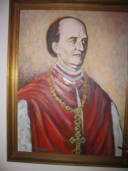 Ipolyi Arlond portréja a róla elnevezett iskolában Csáky Károly felvételén