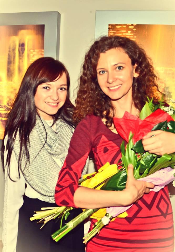 Kulmon Angelika és Mayer Éva a kiállítás megnyitóján