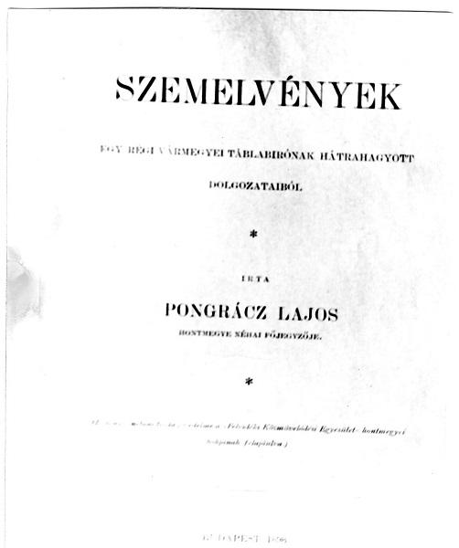 Pongrácz Lajos egyik munkája