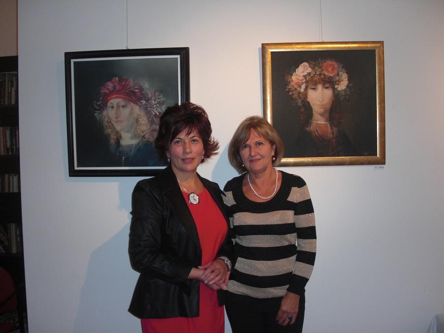 Szászné Hajdu Katalin balról és Bálint Zsuzsa