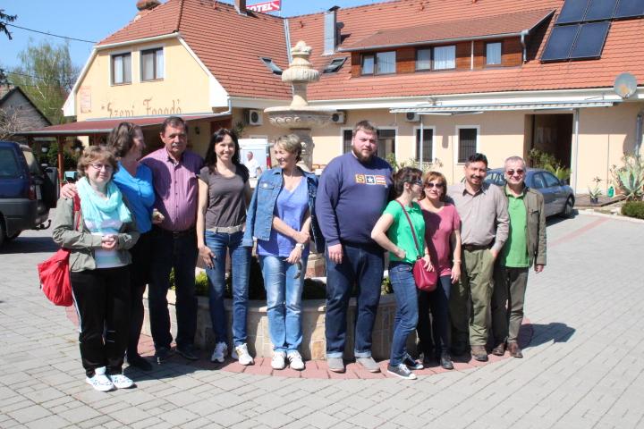 A magyarországi tanulmányút résztvevőinek  egy csoportja