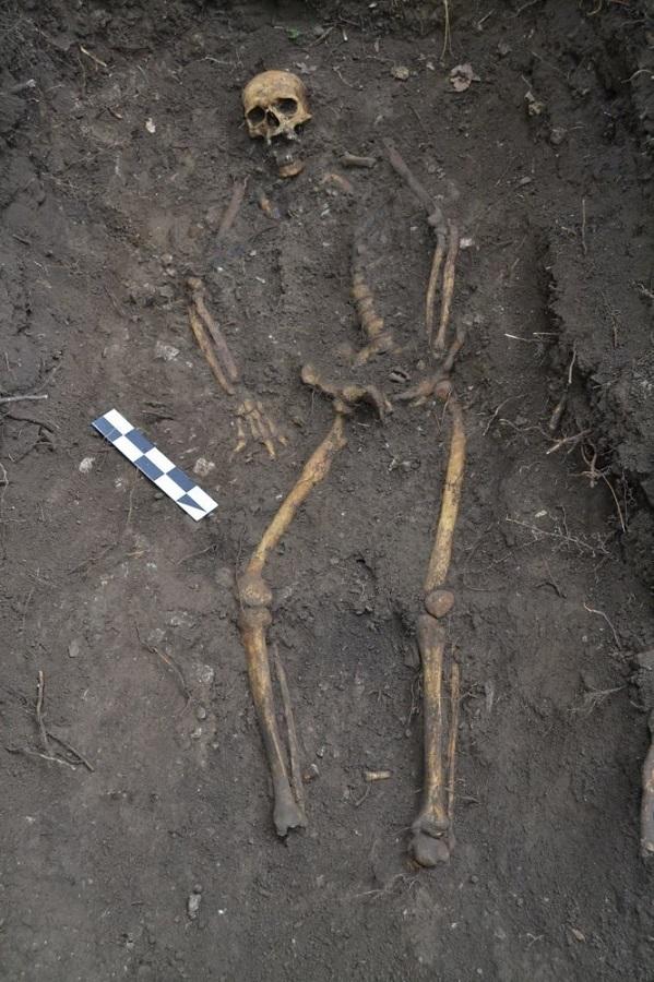 A német katona szinte teljes csontváza