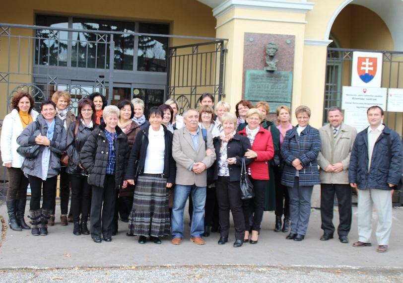 A veresegyházi delegáció tagjai és a házigazdák
