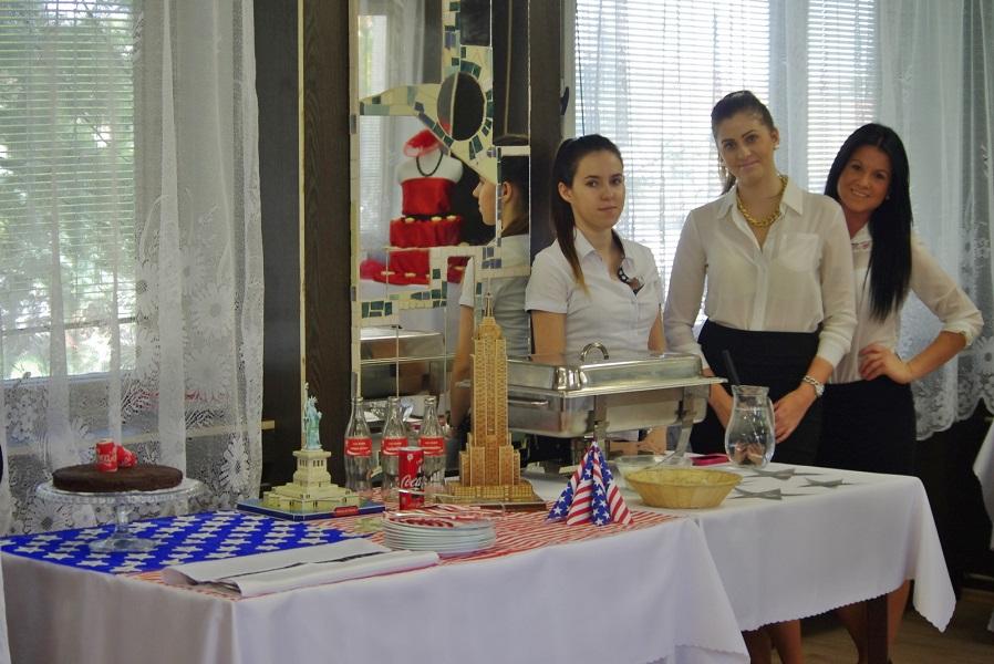 Az amerikai konyhát bemutató stand