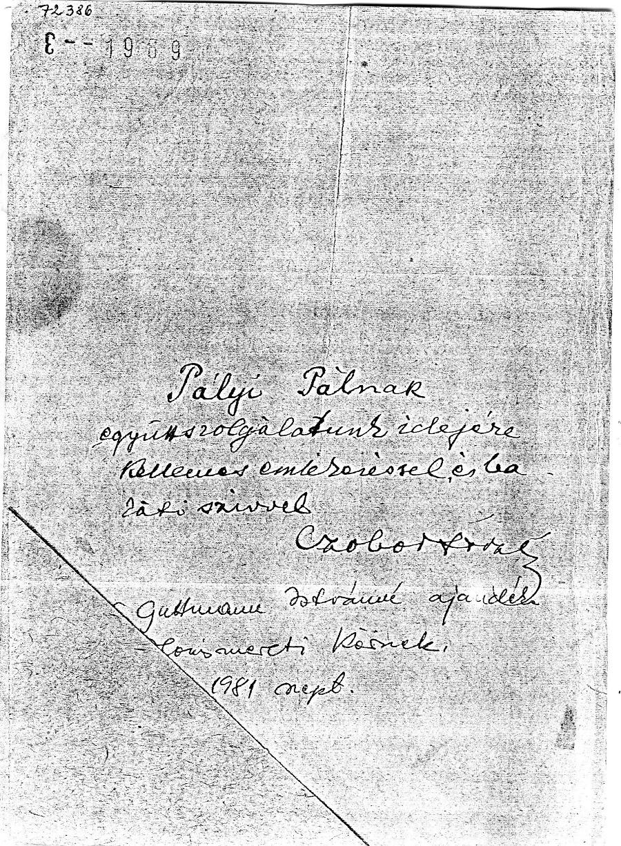 Czobor könyvének dedikált példánya a Balassagyarmati Helytörténeti Gyűjteményben
